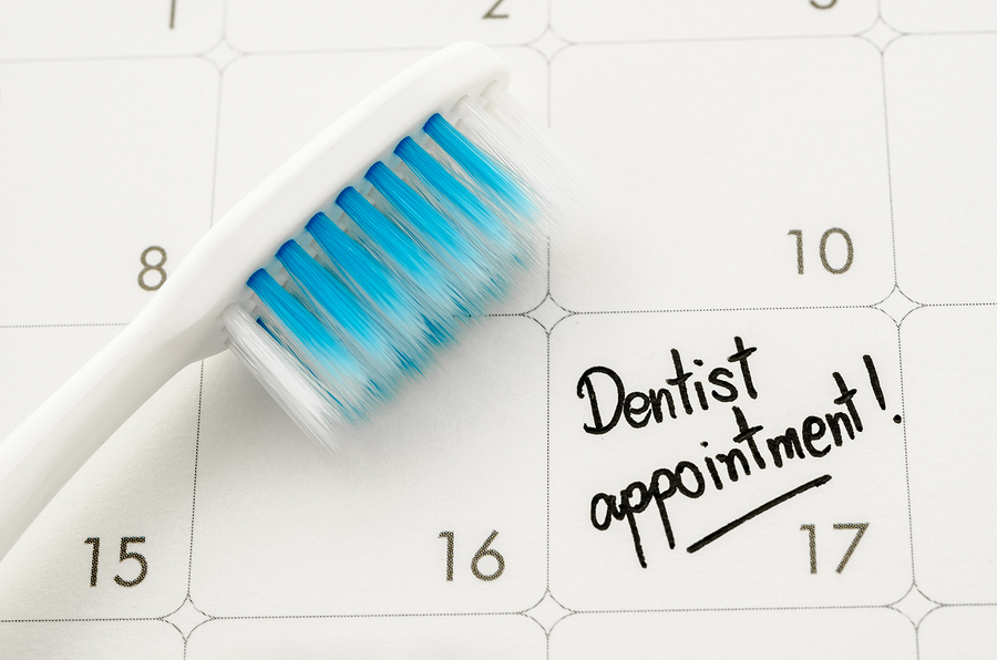 Besides brushing and flossing, a biannual checkup at your dentist will keep your teeth and gums in good shape.